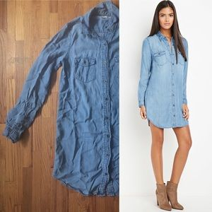 Life in Progress Denim Shirt Dress (Forever 21)
